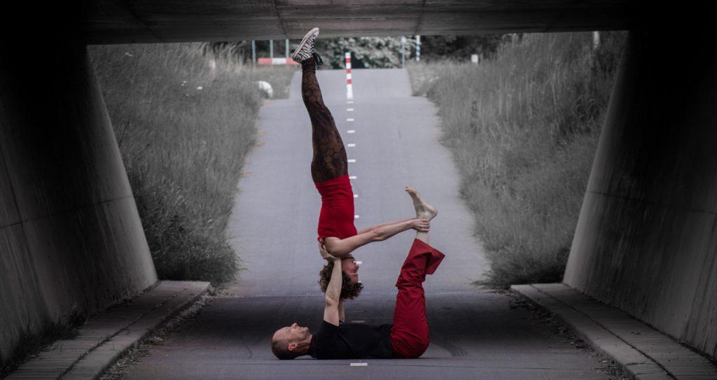 AcroYoga Shoulderstand by Bendie Yoga