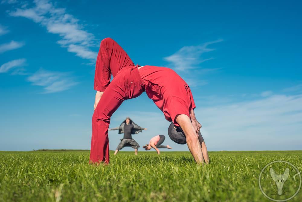 Achtergrond, Urdhva dhanurasana by Bendie-Yoga.com