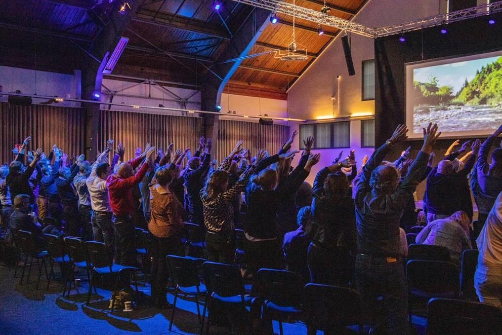 Bendie Yoga. Beweging voor congres bezoekers.